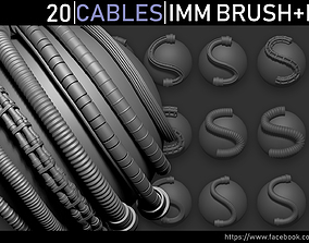 Zbrush - Cables IMM Brush and Meshes 3D asset
