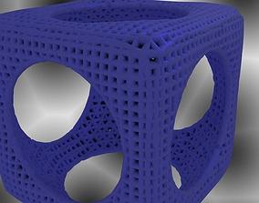 Cube Sphere Math art 3D print model