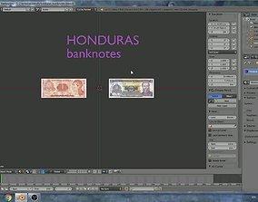 Honduras - 2 banknotes model 3D asset