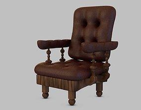 wooden 3D armchair