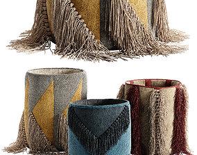 Decorative basket set 3D