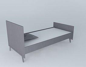 THEO gray vintage crib 3D model