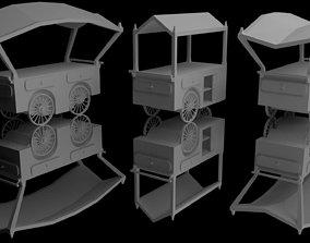 Peddler Carts 3D model low-poly