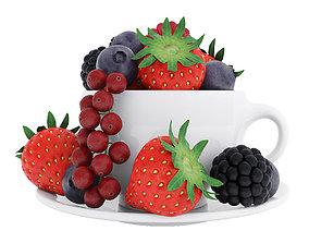 3D Cup of berries