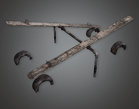 PAP - Abandoned Seesaw - PBR Game Ready 3D asset