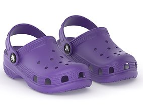 Crocs Classic Clog Neon Purple 3D