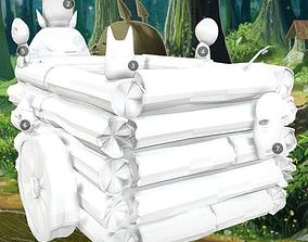 Totoros pushcart 3D print model