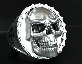 3D print model Biker Skull ring biker
