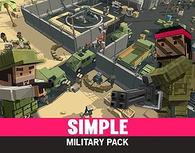 3D model animated Simple Military - Cartoon Assets