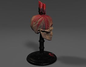 3D model Gothic horror candles