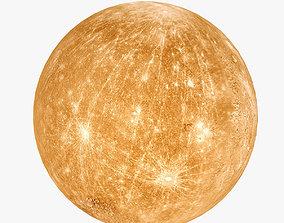3D asset Lowpoly Mercury