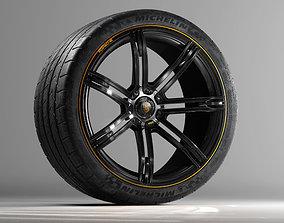 Porsche 988R Concept Rim and Michelin SuperSport 3D model