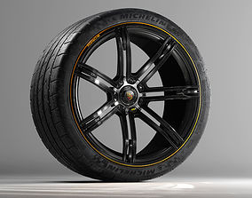 Porsche 988R Concept Rim and Michelin SuperSport 3D model