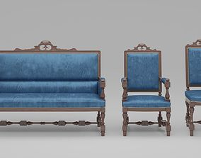Carved Furniture Set 02 3D model