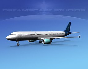 Airbus A321 Star Lines 3D