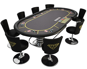 sports 3D Poker table