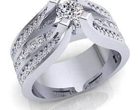 Fancy Luxury Ring 3d Model Render Detail