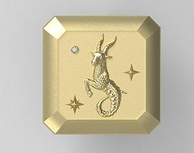 3D printable model fantasy Capricorn Cufflink