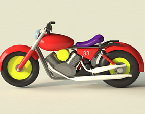 3D asset Toy Motorcycle