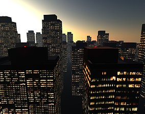 3D asset low-poly City Blocks Free