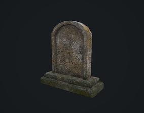 Gravestone 1 3D asset