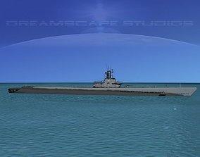 3D Gato Class Submarine SS-249 USS Flasher