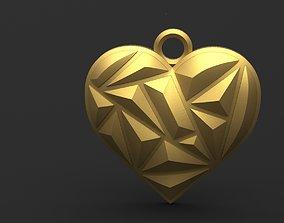 Heart pendant 9 3D print model