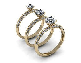 3D printable model Jewelry Rings NINE RINGS 014