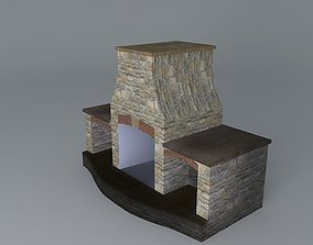 Curve sided Fireplace 3D