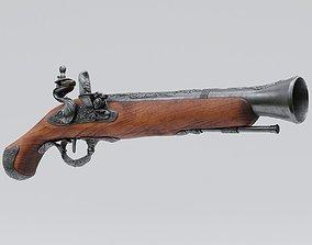 Pirate Flintlock Pistol 3D model