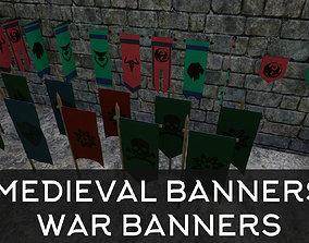 Medieval War Banner Collection 3D