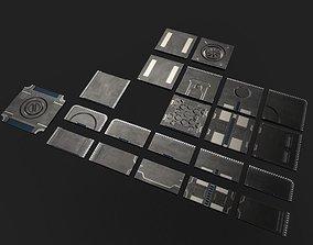 Modular Sci-fi floor set 3D asset
