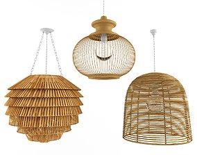 3D Lamp rattan bamboo outdoor