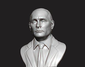 3D Sculpture of Vladimir Putin 3D printable model