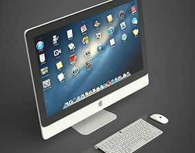 Apple iMac 3D model desktop mac