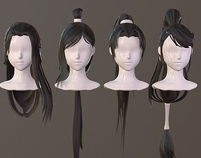 3D model The girl hair Restoring ancient ways ponytail 1