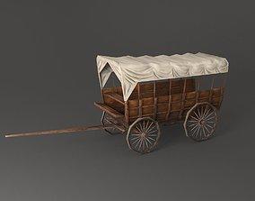 3D asset Wild west vagon