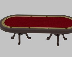 Long Poker Table 2 3D