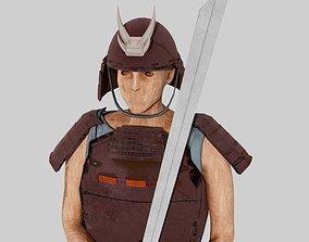 3D model samurai figure