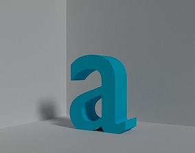 3D asset Letter a - lowercase