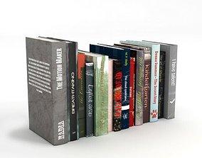 3D model Various Standing Books
