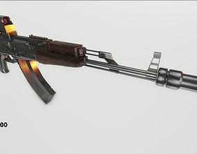 3D model game-ready Ak-47 weapon