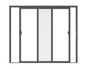 3D model Aluminium Door 06