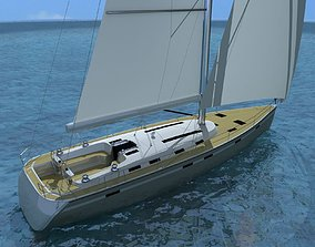 recreational 3D bavaria 55 cruiser