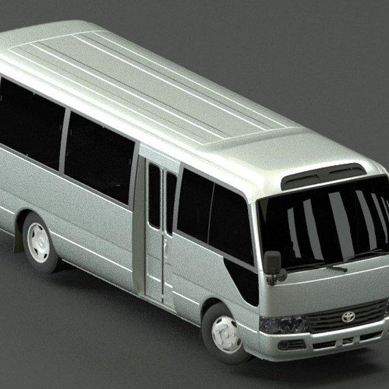 Toyota Coaster  3d model