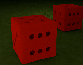 3D asset Red Printable Dice