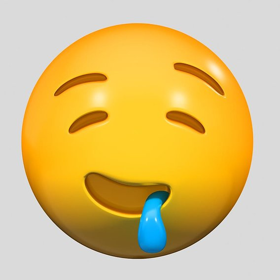 Emoji Drooling Face 3D model