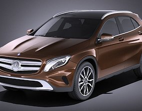 Mercedes Benz GLA 2015 VRAY 3D