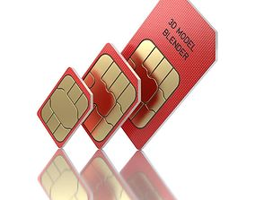 3D Standard Micro and Nano SIM Cards