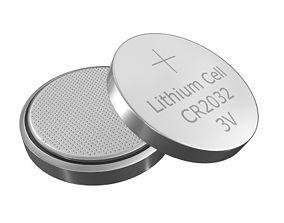 CR2032 Lithium Button Battery 3V 3D model